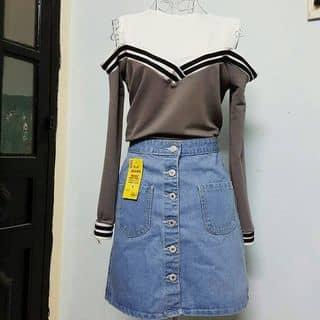 🔽Áo rớt vai |Màu như hình đậm và nhạt |<50kg |70k            🔽Chân váy jeans | Hàng nút dọc |Form chữ A |S, M |110k của duahau8 tại Hồ Chí Minh - 2909968
