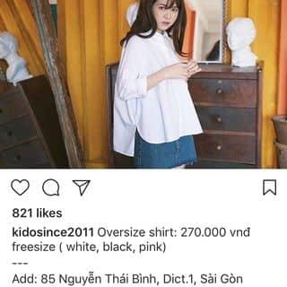 Bán áo sơmi trắng oversized của Kidosince2011 của lanlinh05 tại Hồ Chí Minh - 3804914