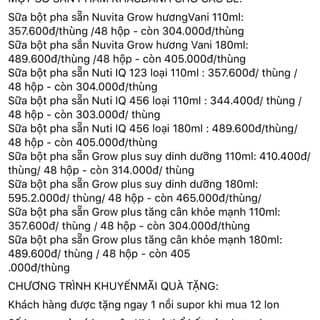 Bảng giá sữa NutiFood của tuantran283 tại Hồ Chí Minh - 3068521