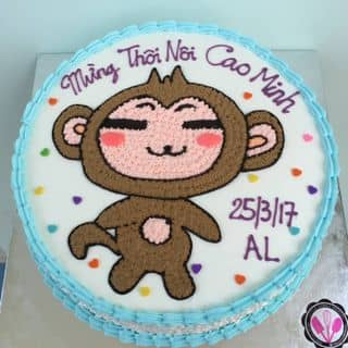 Bánh kem vẽ hình của cookies tại  0932773968 - 173/23/98 Khuông Việt, Quận Tân Phú, Hồ Chí Minh - 3138854