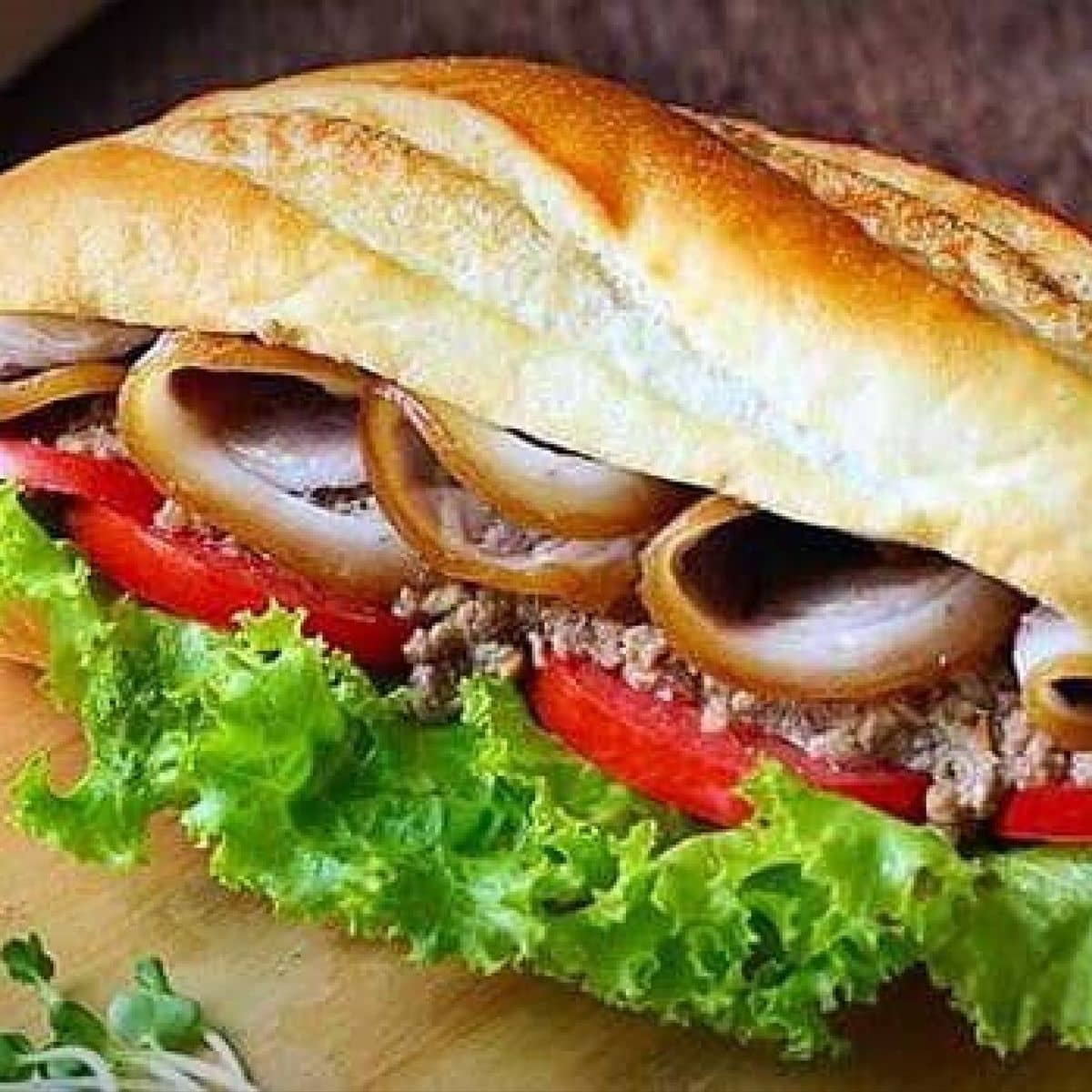 Image result for banh mi kep thit