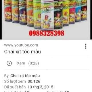 Bình xịt nhuộm toc đủ màu của tayxnguyen tại Shop online, Huyện Bù Gia Mập, Bình Phước - 1211038