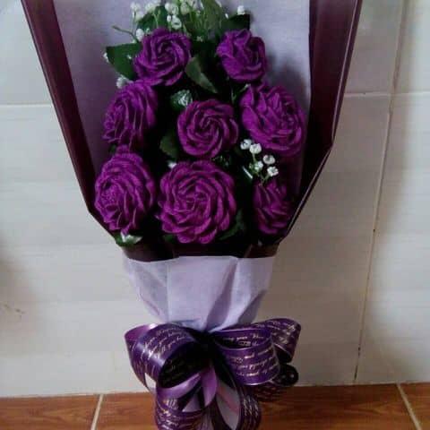 Kết quả hình ảnh cho bó hoa hồng tím