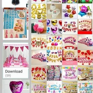 bóng bay nhôm, phụ kiện trang trí sinh nhật, phòng cưới của phannam65 tại 37 Lương Khánh Thiện, tt. Trường Sơn, Huyện An Lão, Hải Phòng - 2818070