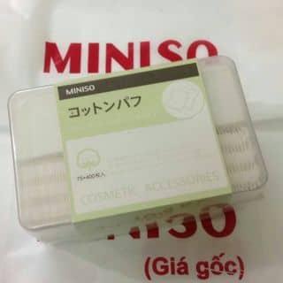 bông tẩy trang,thấm toner 2in1 chính hãng miniso của huynhleha1 tại Quảng Ngãi - 3304072