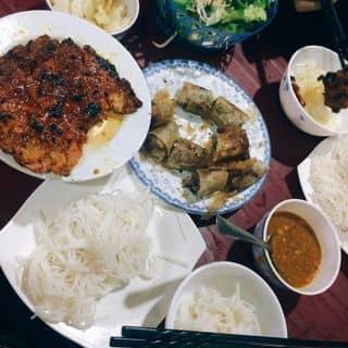 Bún chả cuốn+chả nướng của thunguyen1097 tại Chợ Quang Trung, Thành Phố Vinh, Nghệ An - 2164222