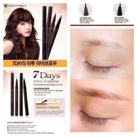 Bt K Chn My 7 Day Tattoo Eyebrow Tonymoly Ti Tylyshop Ca