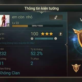 Cần bán acc liên quân  của luongthevinh4 tại 97 Trần Phú,  P. Phủ Hà, Thành Phố Phan Rang-Tháp Chàm, Ninh Thuận - 3570108
