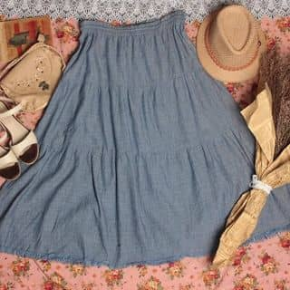 Chân váy denim lưng thun✨ có dây buộc trong V009 của phieushop tại Hồ Chí Minh - 3022005
