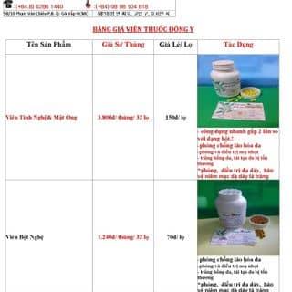 chào bán tinh bột nghệ và viên tinh bột nghệ của dongyducphu tại Hồ Chí Minh - 2913685