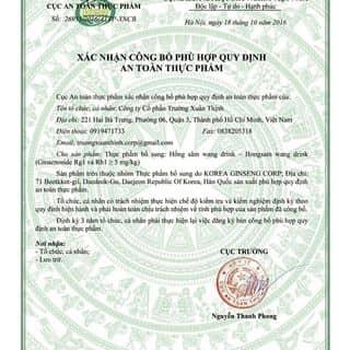Chứng nhận an toàn vệ sinh thực phẩm của bộ y tế về sâm 정관장 của duongha93 tại Bắc Ninh - 2441794