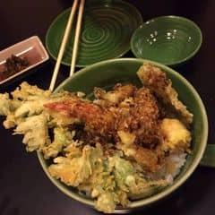 Cơm và rau củ chiên giòn TENDON và MIsO soup của Phuong Tracy tại The Sushi Bar - Zen Plaza - 1782227