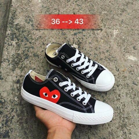 10f3402f2c4 Comme Des Garcons Play X Converse Chuck Taylor - Hidden Heart Low Top  Sneaker