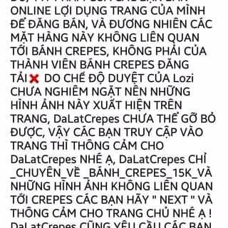 DaLat Crepes Cảnh Báo !!!!!!!!!!!!!!!!!!!!!!!!!!!!!!! của baoquocnguyen tại Nguyễn Thị Minh Khai, Phường 1, Thành Phố Đà Lạt, Lâm Đồng - 2089199