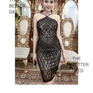 🌺đầm body lưới đá yếm 🌺 Giá 36OK ✔Chất liệu: lưới đá y hình của ngoclinhmi tại Hồ Chí Minh - 2091285