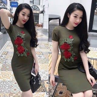 Đầm body thun tay con đính hoa nổi  của nguyenthihang38 tại 280 An Dương Vương, Quận 5, Hồ Chí Minh - 2945460