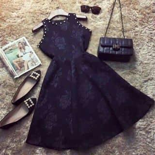 Đầm gấm váy xòe  viền bi của thuytay16 tại Kon Tum - 2353676