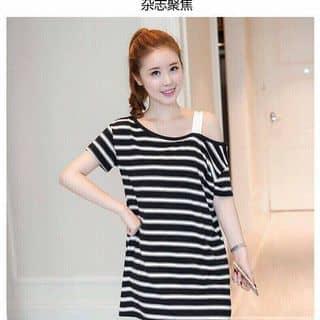Đầm suông sọc lệch vai đơn giản dễ thương của nguyenthihang38 tại Hồ Chí Minh - 3810534