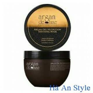 Dầu hấp tóc (Kem ủ) Argan Deluxe dành cho tóc hư tổn 250ml ITALY của haanstyle tại Hải Dương - 2036359