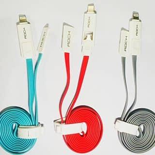 Dây cáp sạc rock 2 đầu combo lightning-micro USB 100CM của lexuan41 tại Hồ Chí Minh - 1261343