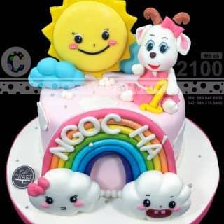 Dê con và mặt trời - Bánh kem sinh nhật tạo hình theo yêu cầu của tiembanh_cakecraft tại (Giao hàng tận nơi) Số 32 Nội khu Mỹ Toàn 2, Phú Mỹ Hưng, P. Tân Phong, Quận 7, Hồ Chí Minh - 4222120