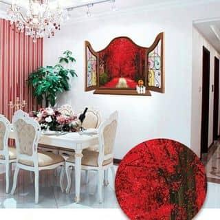 Decal dân tường cửa sổ co dường lá đỏ của amyshop tại 20/16 Phạm Ngọc, Tân Quý, Quận Tân Phú, Hồ Chí Minh - 2583906