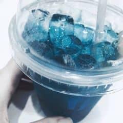 Đây là thức uống mình rất thích khi đến đây, lí do là 1 phần mình thích màu xanh nên nhìn cái gì màu xanh là muốn nếm thử :)))