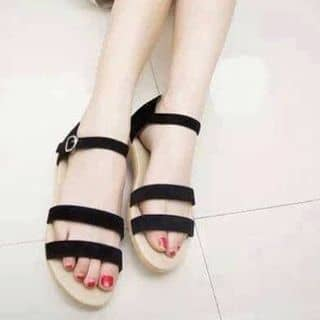 Dép sandel, áo thun lỡ tay kẻ sọc, quần baggy jean của lethiduyen23 tại Đắk Nông - 3211037