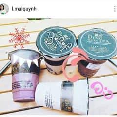 Dingtea matcha green milk tea + chocolate mik tea & Mochi trà xanh + scl đắng của Cua Quỳnh tại Ding Tea - Trần Duy Hưng - 1970867