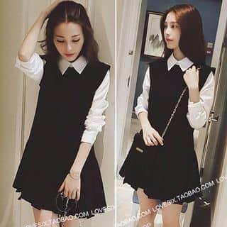 (Freeship) Đầm đi chơi nữ sinh 130k , vải đen thun cotton kết hợp vải trắng mềm của mandylam tại Hồ Chí Minh - 2496367