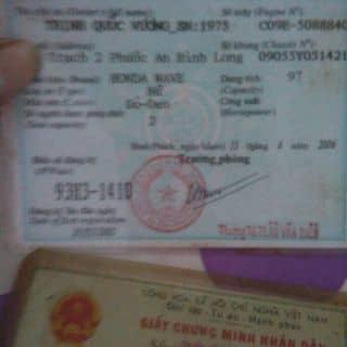 Giấy tờ cavet xe wave đời 2006 của kyokhanh tại Khu Chợ Tân Khai,  Xã Tân Khai, Huyện Hớn Quản, Bình Phước - 2618748