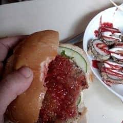 Hamburger bò của Má Đậu tại Tít fastfood -105 ngõ 4c Đặng văn ngữ  - 255841