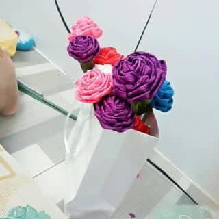 Hoa hồng bằng giấy nhún 🌹🌹 của thuytrang553 tại Cà Mau - 2918104
