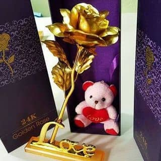 Hoa hồng mạ vàng 24k chữ Love của huyennhu14 tại Quảng Ngãi - 2536903