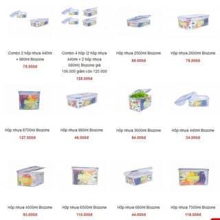 Hộp nhựa đựng đồ ăn Biozone giá từ 34.000 của ntkimthoa4 tại 79G Trần Văn Đang, P.9, Q.3, Quận 3, Hồ Chí Minh - 3914572
