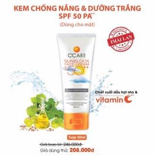Kem chống nắng dùng cho mặt SPF50 PA++ của vynguyen1117 tại TOÀN QUỐC, Quận 1, Hồ Chí Minh - 3144452