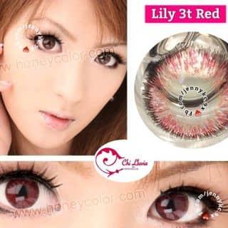 Kính áp giãn tròng - Lily 3t Red Lens của jennykc9x tại Hải Phòng - 2676358
