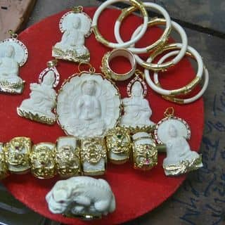 Lắc tay và nhẫn ngà voi bọc vàng của cauamcoolmilk tại Phú Thọ - 1927533
