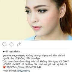 Không có người phụ nữ xấu, chỉ có người phụ nữ không biết làm đẹp.  Các bạn còn chần chừ gì nữa mà không đến ngay với GRAY HOUSE - MAKE UP để thay đổi mình với giá cực kỳ hợp lý . ❤️ SMS/Zalo/Viber: 📱0904.212.444  Hoặc Direct: @byzoeyyy Để được tư vấn nhiệt tình và đặt lịch.  Make Up và làm tóc chuyên nghiệp tự tin là điểm đến làm đẹp của mọi người ❤️❤️❤️ #makeup #makeupartist #make #trangdiem #trangđiểm #đẹp #beauty #beautyblog #ig_vietnam #ảnh #vsco #vscocam #vscovietnam #vscovn #photooftheday #bạn #xinh #son #mẫu #yêu #hanoi #congai #mypham #vietnamgirl #girl #model #hanoicity #instagram #follow #f4f