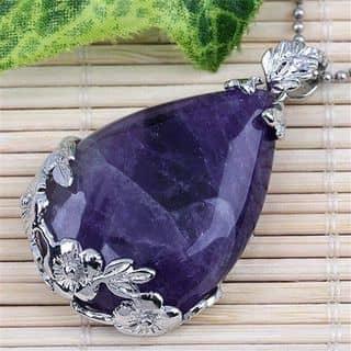 Mặt dây đá thạch anh tím thiên nhiên bọc bạc tinh xảo sang trọng! của nguyenqanh tại Thái Nguyên - 2485990