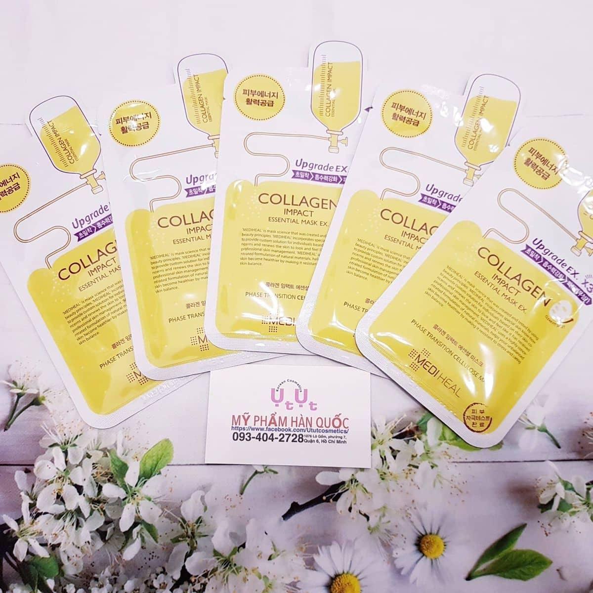 Mt N Mediheal Collagen Impact Essential Mask Ti T Cosmetics M Phm Hn Quc Ca Trinh3430 Lozi