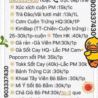 Menu binbon shop  của thanhhaipham9 tại 0903337430, Quận Phú Nhuận, Hồ Chí Minh - 560576