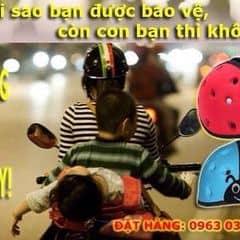 Mũ bảo hiểm trẻ em siêu nhẹ công nghệ Singapore của manhtroc tại TTTM Aeon Mall Long Biên Hà Nội - 2485857