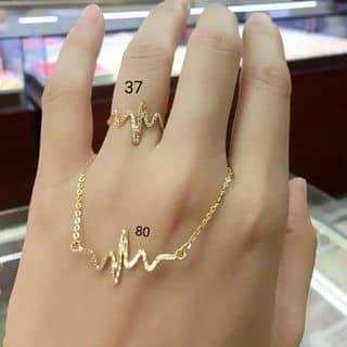 Nhẫn+ dây chuyền vàng nhịp đập trái tim của hongle90 tại Bắc Ninh - 3155932