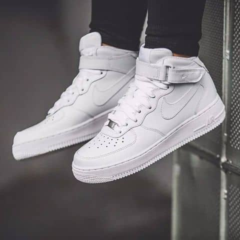 Australia Nike Air Force 1 Mid All White Size 385 Real 4968231 01203213004 91c96 Df466