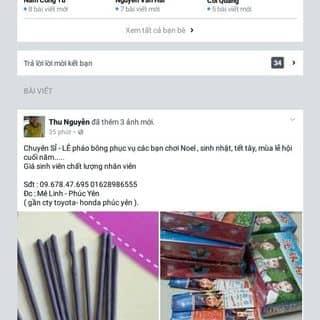 pháo bông của thunguyencd6d2 tại Shop online, Huyện Tam Dương, Vĩnh Phúc - 2370850