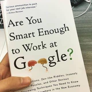 Sách Are You Smart Enough To Work At Google - Used của cutie tại Phòng BB5, Chung cư Hưng Vượng 3, Nguyễn Văn Linh, Quận 7, TP.HCM, Quận 7, Hồ Chí Minh - 3151192