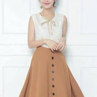Set Áo ren chân váy xòe nút của votuyetnhung1 tại Quảng Ngãi - 2766049