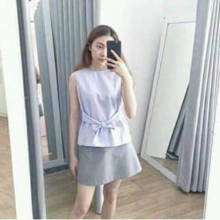 Set áo thắt nơ + chân váy kẻ xếp li của nanguyen311 tại Hồ Chí Minh - 2062554