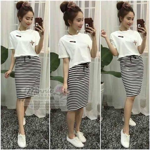 Set bộ áo croptop trắng - 668516 anhle104 - Anh Lê - 58/5 Bà Điểm, Huyện Hóc Môn, Hồ Chí Minh